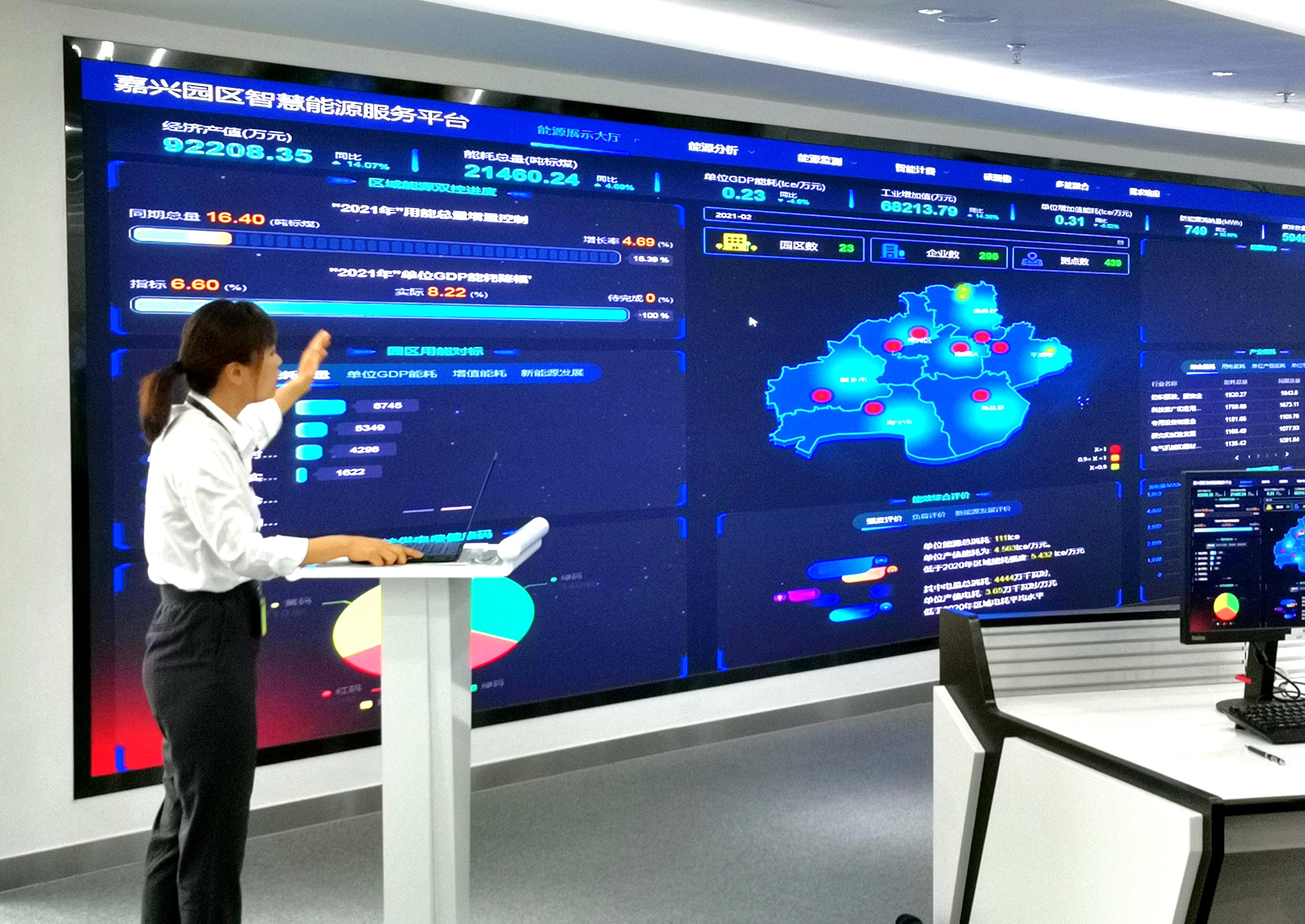 嘉兴能源大数据平台投用以来,有效助力政府精准管控能源利用形势