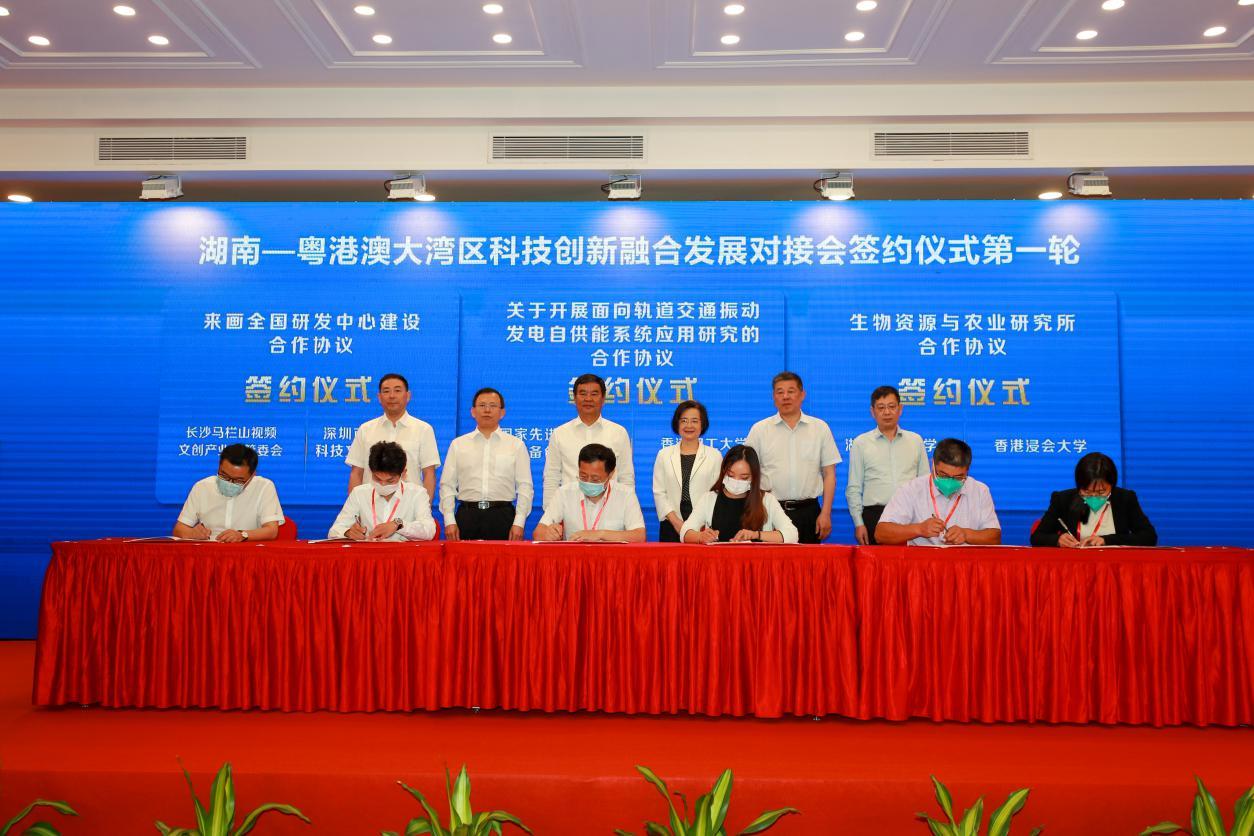 湖南-粤港澳大湾区科技创新融合发展对接会举行