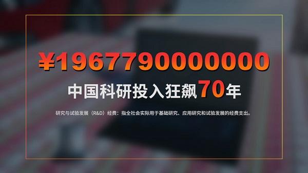 ¥1967790000000,中国科研投入狂飙70年